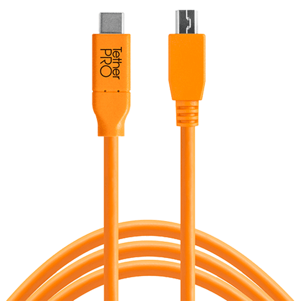 TetherPro USB-C auf 2.0 Micro-B 5-Pin 4.6m orange