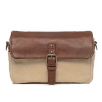 ONA Bowery Tasche Natural Canvas und Antique Congnac Leder